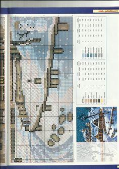 rozárka 6/2007 dolný obrázok Cross Stitch, Frames, Scenery, Houses, Punto De Cruz, Seed Stitch, Cross Stitches, Crossstitch, Punto Croce