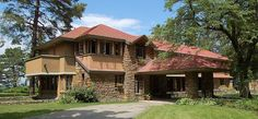 Graycliff, the Isabelle R. Martin House, by Frank Lloyd Wright, Derby, NY.