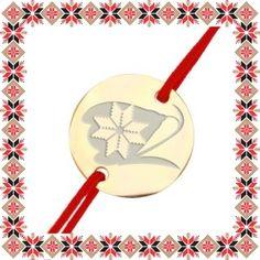Martisor Bratara Inox Banut Auriu Ghiocel Motive Traditionale Low Key