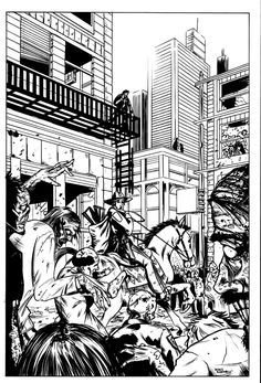 Free coloring page coloring-adult-the-walking-dead-rick-atlanta-by-derekrodenbeck. The Walking Dead : a drawing showing Rick in Atlanta