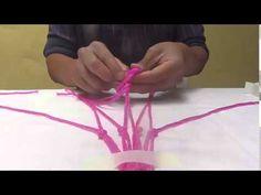 Como hacer un colgante para macetas paso a paso - YouTube