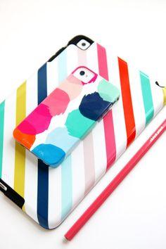Custom Neapolitan Stripe IPad Case   iPad par PencilShavingsStudio