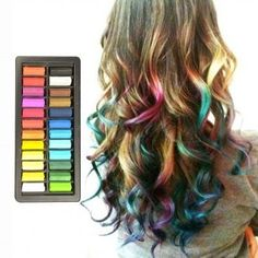Set of Hair Chalk - 24 Colors.  My granddaughters had a blast with this chalk.