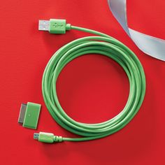 Christmas Gifts for Men ::: Stocking Stuffers: 10' Charging Cables at The Container Store #christmasgifts