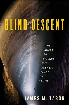 The cover of this book puts you at the top of a deep, forbidding-looking cavern where there's no bottom in sight. Not the sport for me lol but it's definitely interesting to read about.