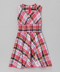 Love this Pink Plaid Sweetheart Dress - Toddler & Girls on #zulily! #zulilyfinds