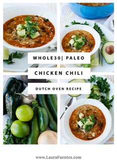 Today's easy chicken and Veggie Chili recipe is the best chicken chili with no beans you'll ever eat. Hands down a keeper! #paleochili #whole30chili Paleo Chili, Veggie Chili, Chicken Chili, Chili Recipes, Pasta Recipes, Soup Recipes, Chicken Recipes, Whole30 Recipes, Healthy Dinner Recipes