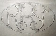 Finely embroidered monogram.