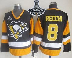 Penguins  8 Mark Recchi Black CCM Throwback 2017 Stanley Cup Finals  Champions Stitched NHL Jersey c64079687