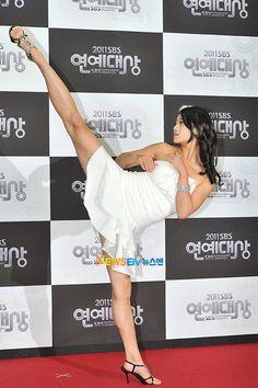 "strontiumcapybaracommando: "" wannakickit: "" theanticool: "" Tae-Mi - Korean Actress and Taekwondo expert "" ihopeyourewearingunderwear "" that's pretty awesome. """