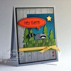 Cute! Life in the Forest Raccoon by JanTInk - Cards and Paper Crafts at Splitcoaststampers