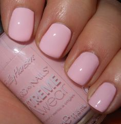 Tickled Pink by Sally Hansen. This color reminds me of a pretty pink...~♡