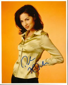 Paula Marshall - signed portrait I grabbed off of a fan site way back when you had to buy internet by the minute Paula Marshall, The Minute, Leather Jacket, Portrait, Internet, Stuff To Buy, Fan, Beauty, Fashion