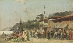 ALBERTO PASINI PAINTINGS ON ARC | Alberto Pasini (Italian, 1826-1899) | A market…