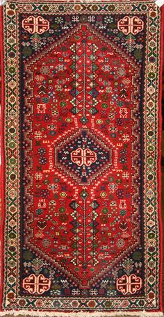 Small Persian Hand-Knotted Abadeh Rug in Wool (Cotton Foundation) - Ref: 1785 - 1.52m x 0.72m