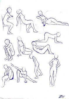 study: poses 3 by shiroiko on deviantART
