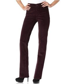Not Your Daughter's Jeans Pants, Marilyn Straight Leg Corduroy in merlot