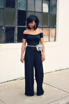 Spring Outfit Idea, Black Jumpsuit, Bardo, Sweenee Style, Indianapolis Style Bloger,