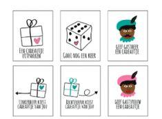 Sinterklaas dobbelspel kaartjes downloaden! Zeer leuk
