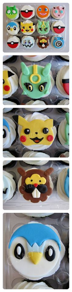 Pokémon cupcakes by C Star Cakes #cstarcakes #pokemon