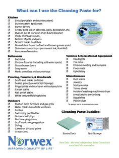 Norwex's Cleaning Paste is the true MVP. It can truly help with any tough cleaning job!