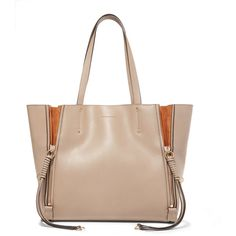 Chloé Milo medium leather tote (80.475 RUB) ❤ liked on Polyvore featuring bags, handbags, tote bags, mushroom, leather handbags, leather tote purse, leather tote handbags, tote purses and chloe tote