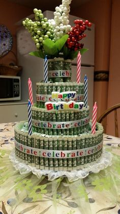 Different Way to Give Money on Birthday's or Any Other Occasion/ Can also do this with CANDY!!!
