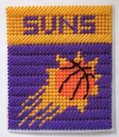 Phoenix Suns tissue box cover in plastic canvas PATTERN ONLY by AuntCC for $2.50