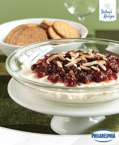 If you don't like double dippers, watch out. This Spiced Cranberry Dip brings out the double...make that triple dipping in everyone.
