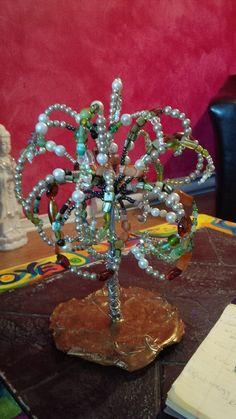 Beaded Spirit Tree - Wire Tree Sculpture
