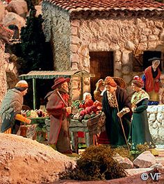 Crèche de Noël Avignon  - le marché