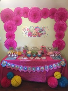 Shopkins Birthday Candy Table