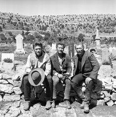 """""""Clint Eastwood, Eli Wallach, Lee Van Cleef on the set of The Good, The Bad, And The Ugly Sergio Leone. Lee Van Cleef, Western Film, Western Movies, Westerns, Classic Hollywood, Old Hollywood, Hollywood Actresses, Eastwood Movies, Sergio Leone"""