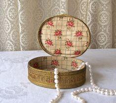Antique Jewelry Casket Fine Brass Jewelry Box Ovington New
