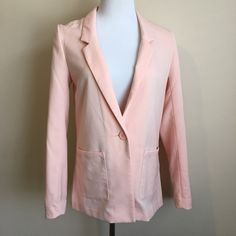 H&M Blazer Casual peachy pink blazer. Two front pockets and one button closure. Great with jeans and heels! Great condition. H&M Jackets & Coats Blazers