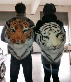 Крутой рюкзак в виде объемной головы тигра
