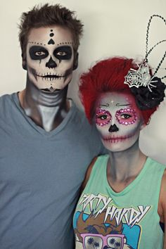 Day of the Dead, Halloween Makeup, Halloween couple, couple costume, Makeup and hair by Sunkissed and Made Up www.sunkissedandmadeup.com