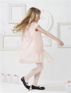 Vestido de manga corta para niña de 2 a 14 años ¡Está en varios colores!