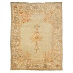 Antique Oushak Wool Rug - 11 2 x14 4