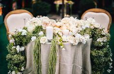 draping flower arrangement table - Google Search