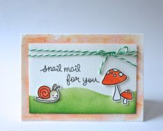Lawn Fawn - Gleeful Gardens _ sweet card by Ren L at inkapaper via Flickr