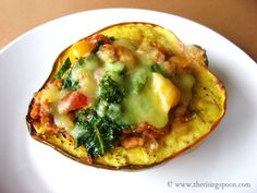 Sausage Stuffed Acorn Squash a Guest Post by The Rising Spoon | Living Low Carb One Day At A Time