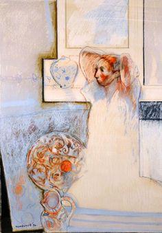 Mixed media, oil, pastel and gouache, 146 x 105 cm … Australian Painting, Australian Artists, Figure Painting, Figure Drawing, Face Sketch, Scratchboard, Drawing Techniques, Vincent Van Gogh, Gouache