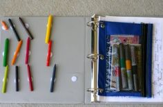 I love the velcro for the keeping crayons/markers in the busy binder. But I imagine a LOT more velcro. Lots.