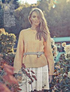 Ashley Osborne Wears Perfect Pastels for Cosmopolitan Australia