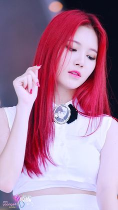 Yura during Ring My Bell promotions. wow her hair man
