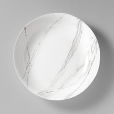 Pure white Tuscan marble Tableware Collection for Dibbern.