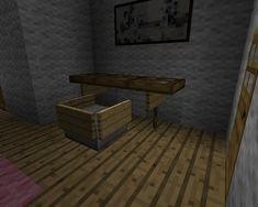 A Minecraft Student Desk Design A great looking Minecraft Desk Solution using Hatches and Signs.