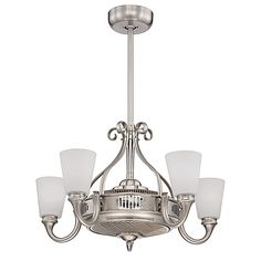 Beautifully modern and elegant, the Savoy House Borea Air-Ionizing Fan d'Lier combines the stunning look of a chandelier with the functionality of a ceiling fan. This innovative fan lights up your home, while keeping your space cool and refreshing.