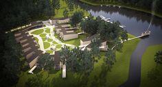 Минские архитекторы предложили стильный проект VIP-турбазы на берегу реки - Недвижимость onliner.by